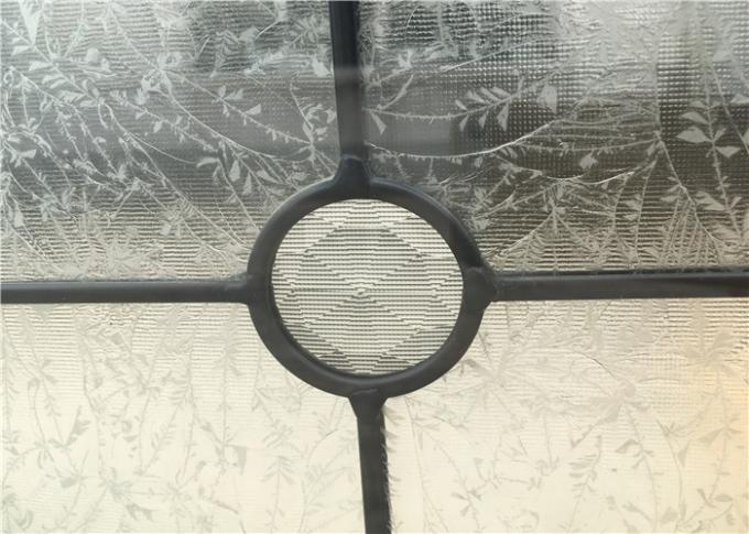 Float Clear Beveled Glass Window Panels , Brass  Yellow  Diamond Door Glass Panels